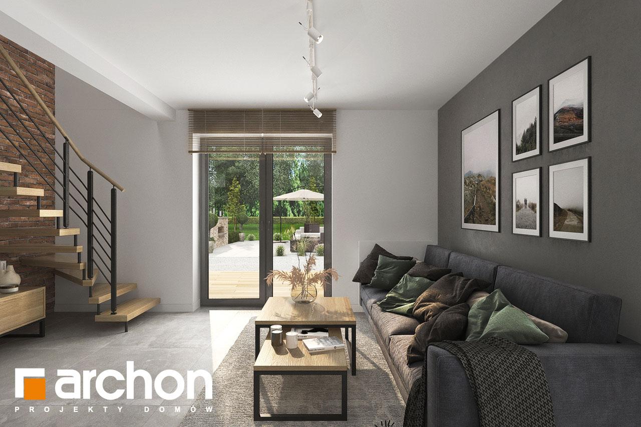 Проект будинку ARCHON+ Будинок мініатюрка (Н) денна зона (візуалізація 1 від 2)
