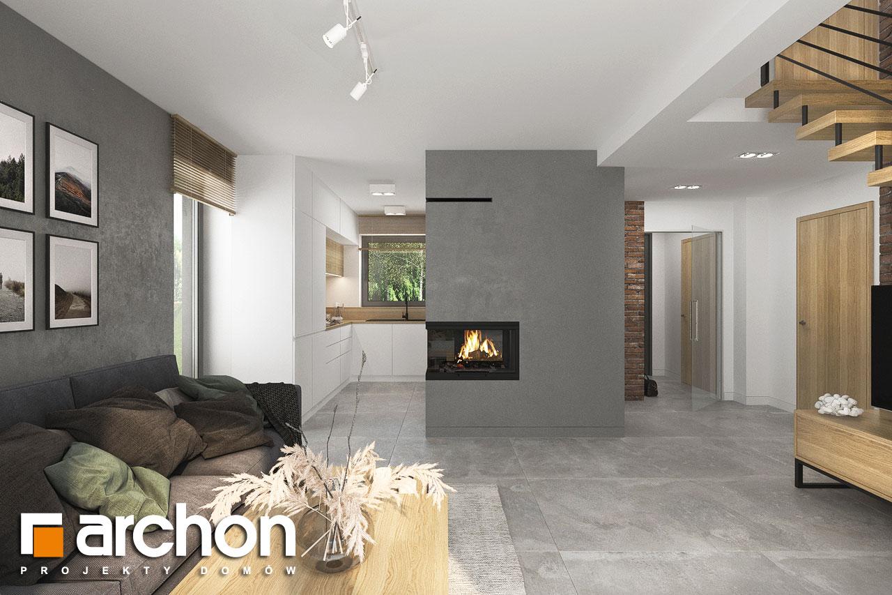 Проект будинку ARCHON+ Будинок мініатюрка (Н) денна зона (візуалізація 1 від 4)