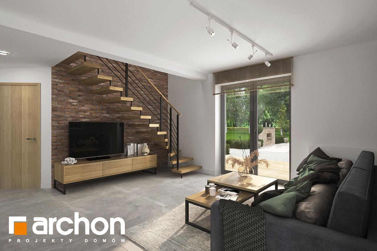 Проект будинку ARCHON+ Будинок мініатюрка (Н) денна зона (візуалізація 1 від 5)