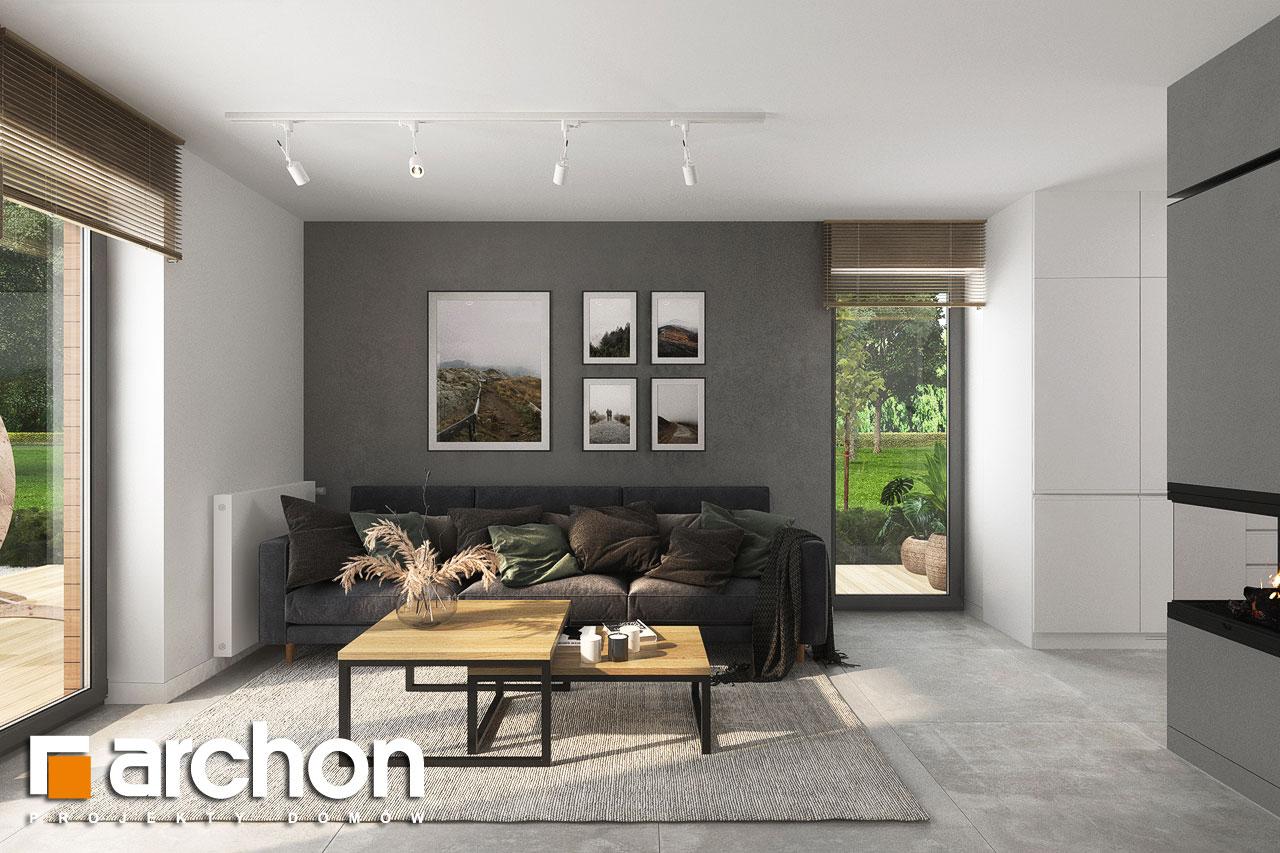 Проект будинку ARCHON+ Будинок мініатюрка (Н) денна зона (візуалізація 1 від 6)
