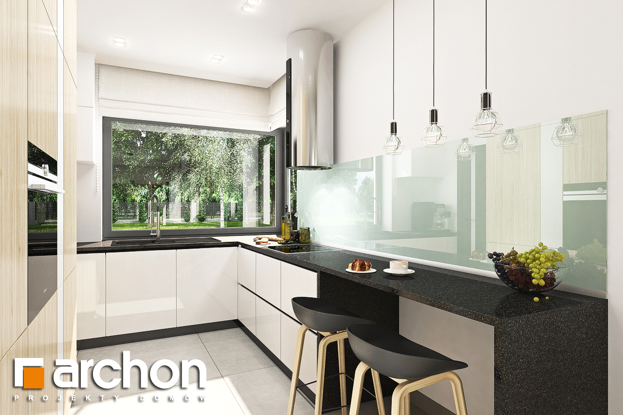 Проект будинку ARCHON+ Будинок у ренклодах 3 візуалізація кухні 1 від 1