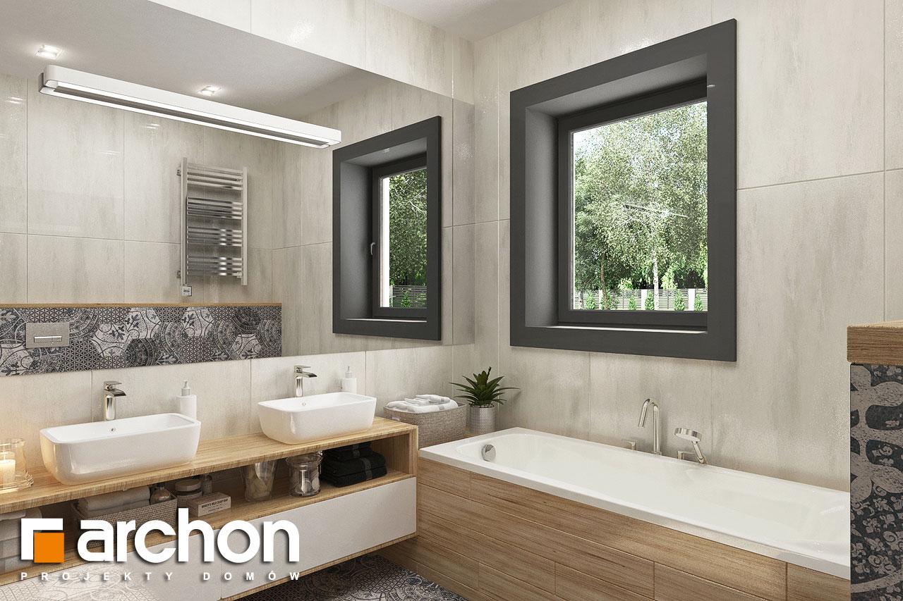 Проект будинку ARCHON+ Будинок у ренклодах 3 візуалізація ванни (візуалізація 3 від 1)