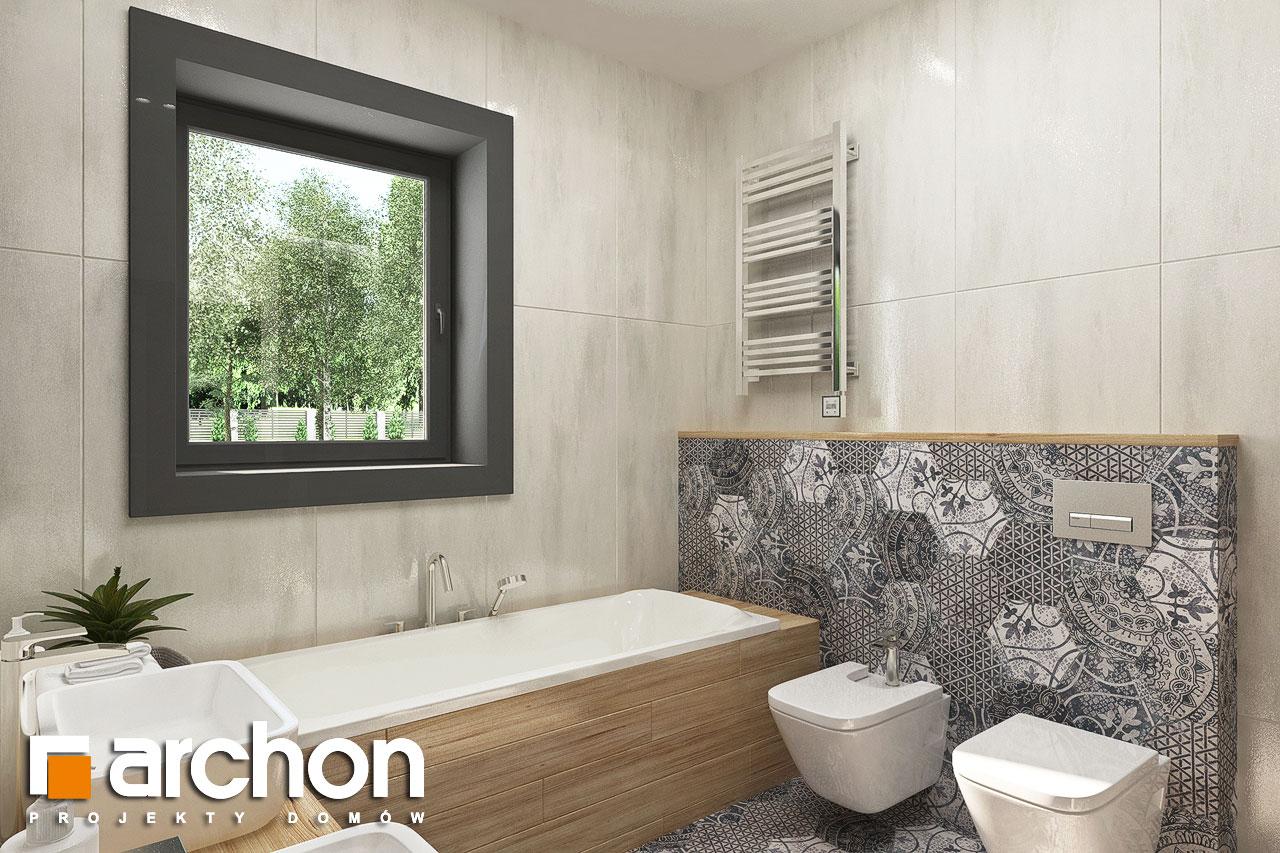 Проект будинку ARCHON+ Будинок у ренклодах 3 візуалізація ванни (візуалізація 3 від 2)