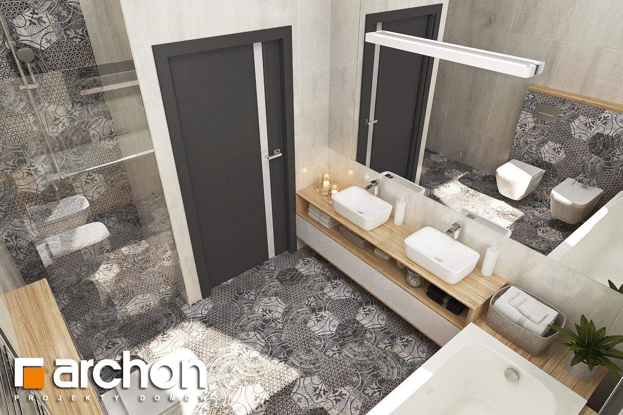 Проект будинку ARCHON+ Будинок у ренклодах 3 візуалізація ванни (візуалізація 3 від 4)
