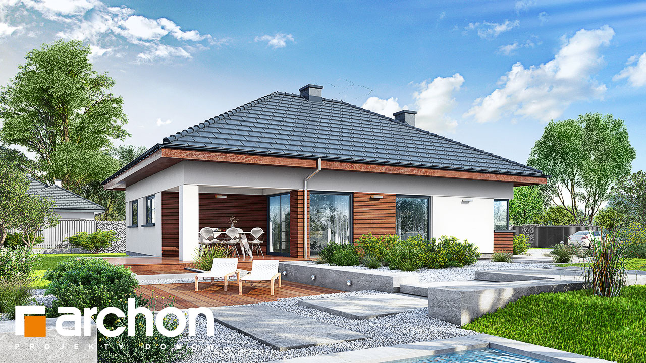 Проект будинку ARCHON+ Будинок у ренклодах 3 Вид 2