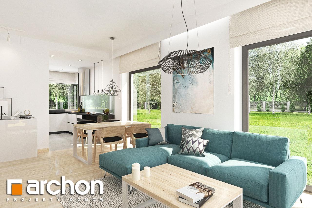 Проект будинку ARCHON+ Будинок у ренклодах 3 денна зона (візуалізація 1 від 5)