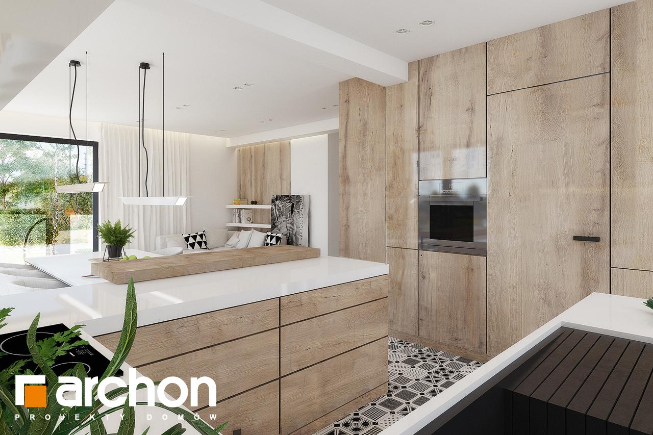 Проект дома ARCHON+ Дом в яблонках 15 (Г2) визуализация кухни 1 вид 1