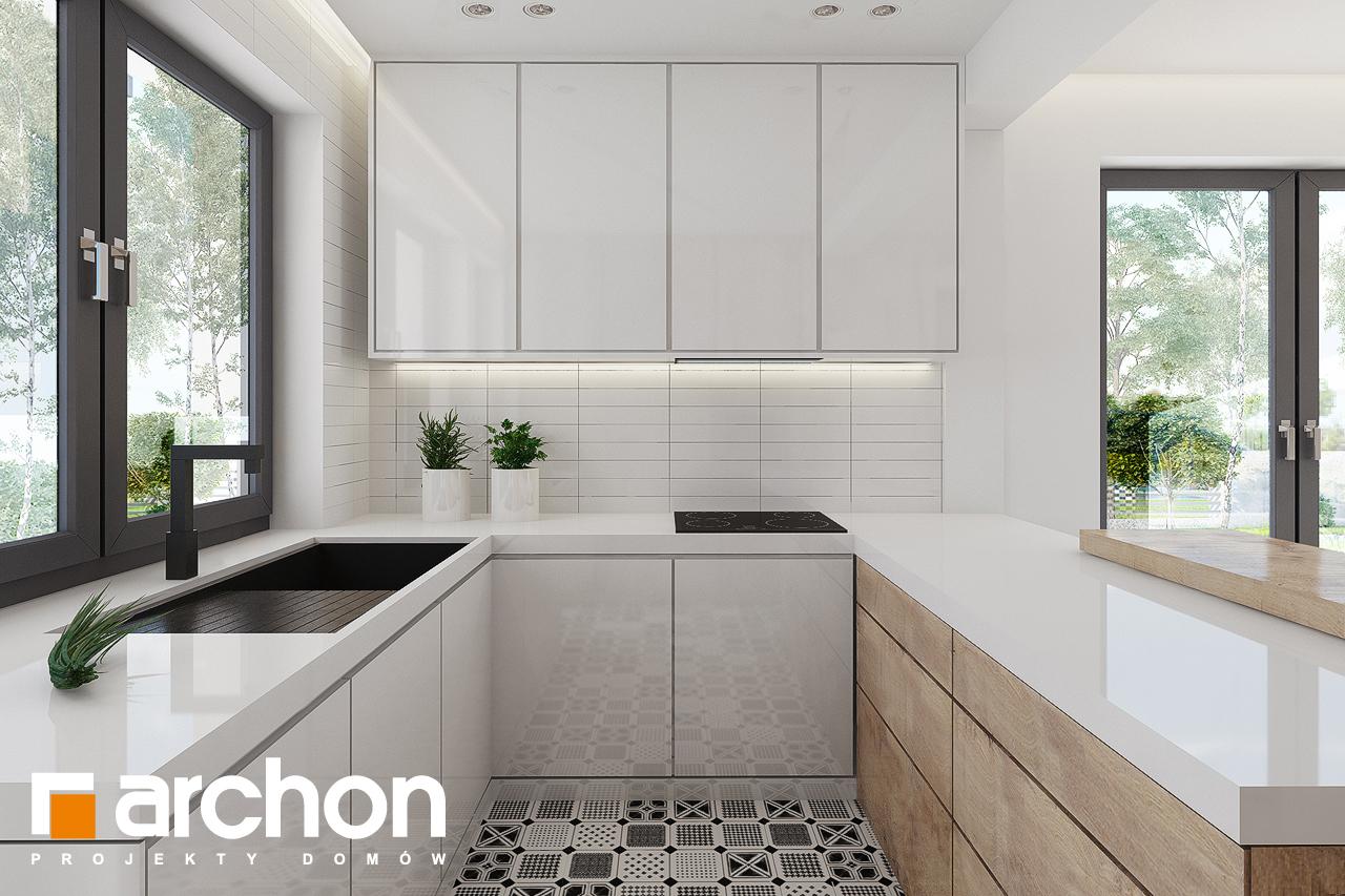 Проект дома ARCHON+ Дом в яблонках 15 (Г2) визуализация кухни 1 вид 2
