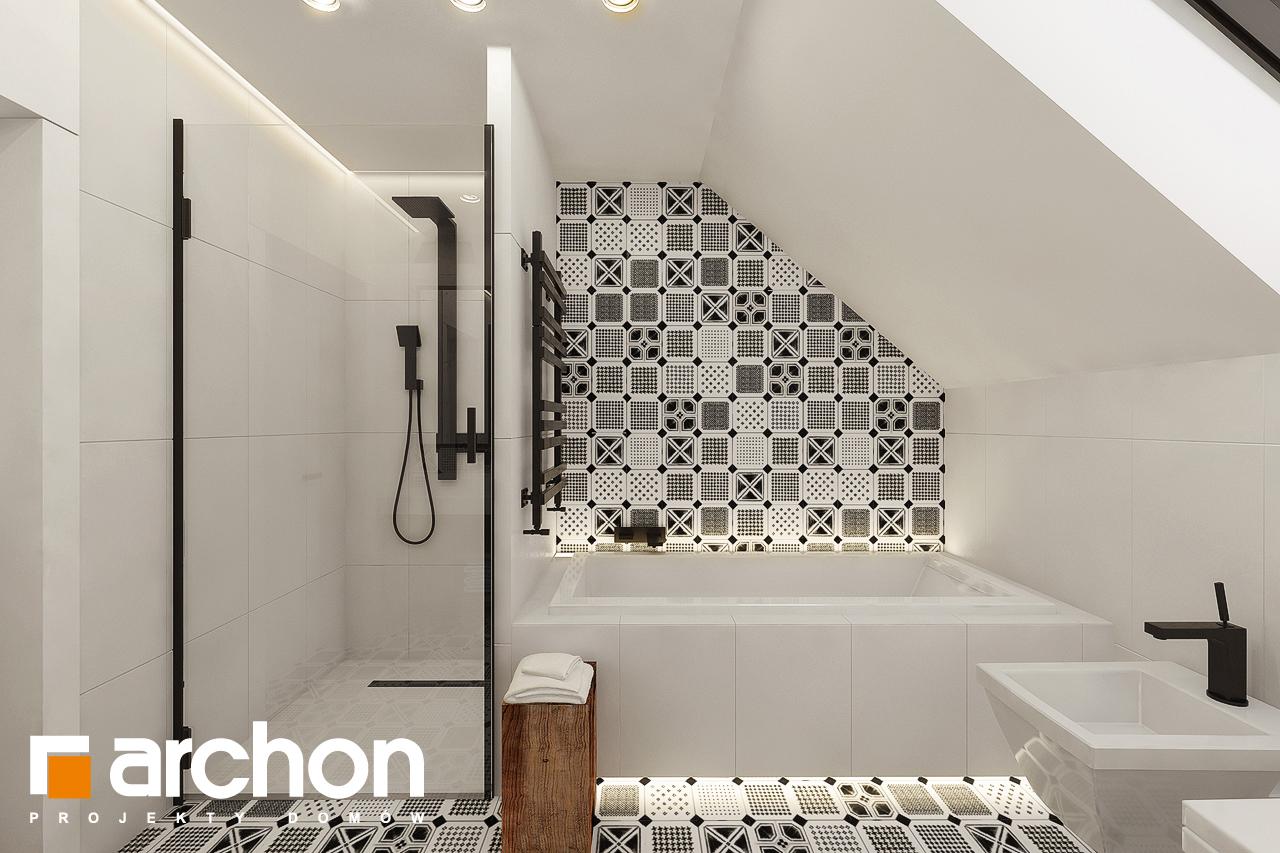 Проект дома ARCHON+ Дом в яблонках 15 (Г2) визуализация ванной (визуализация 3 вид 1)
