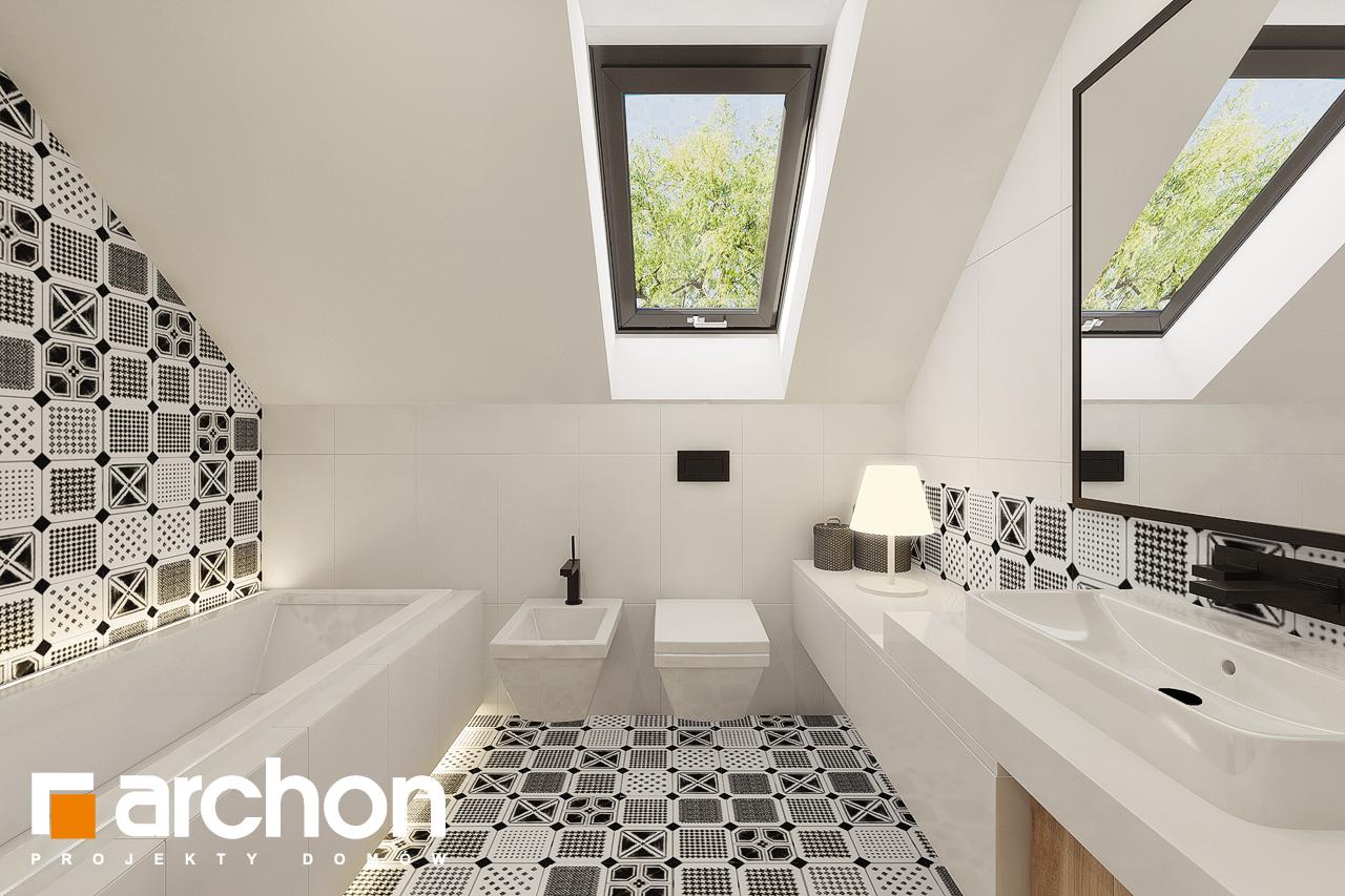 Проект дома ARCHON+ Дом в яблонках 15 (Г2) визуализация ванной (визуализация 3 вид 2)