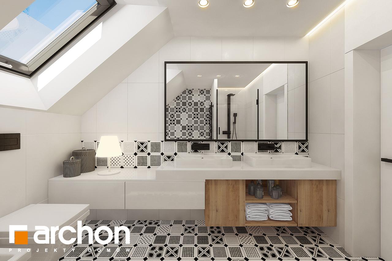 Проект дома ARCHON+ Дом в яблонках 15 (Г2) визуализация ванной (визуализация 3 вид 3)