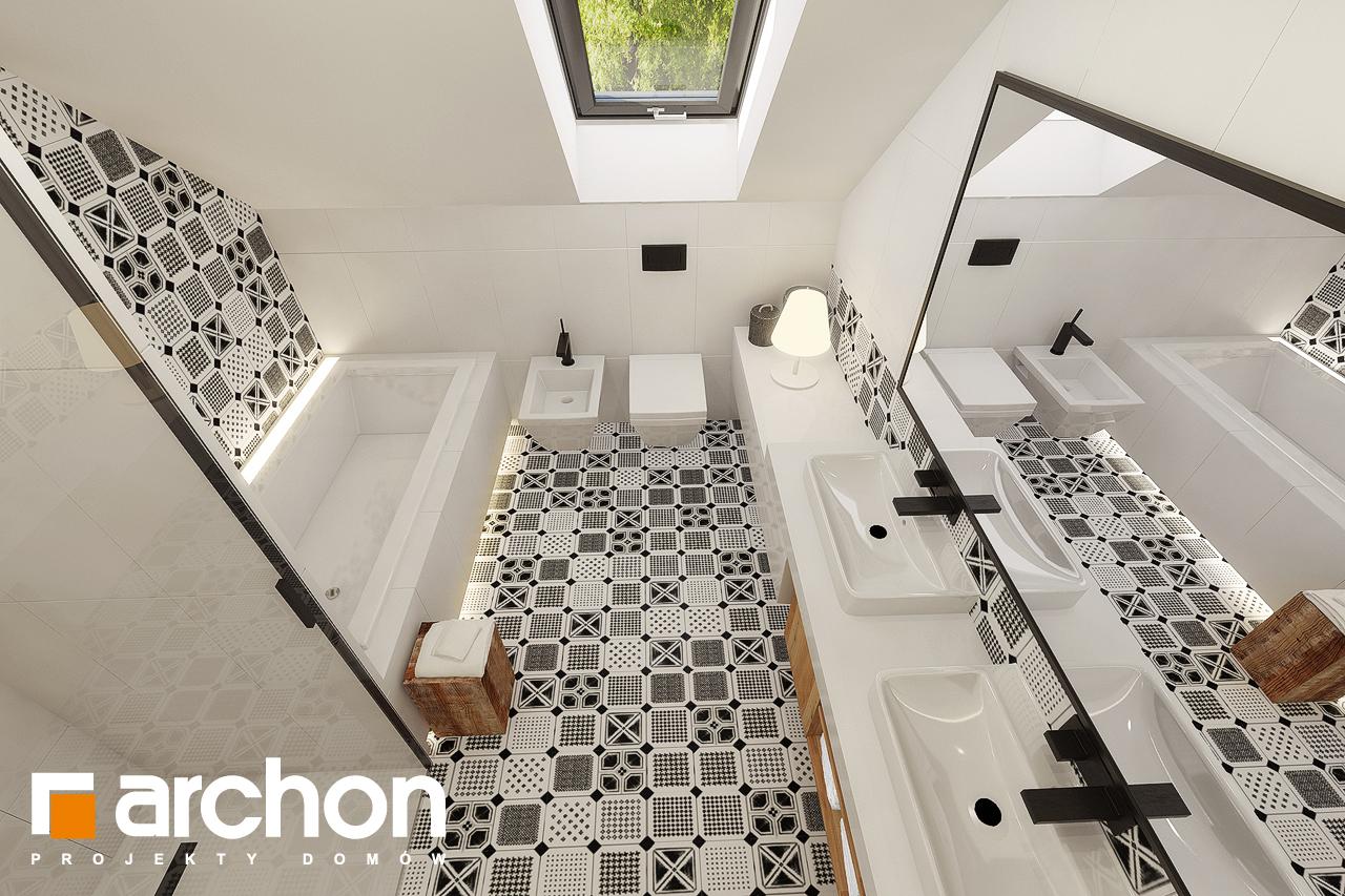 Проект дома ARCHON+ Дом в яблонках 15 (Г2) визуализация ванной (визуализация 3 вид 4)