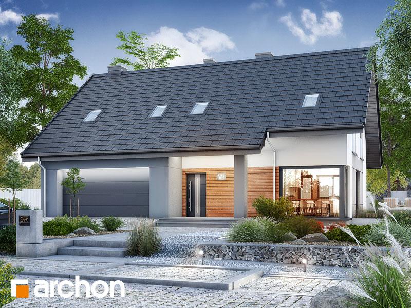 Проект дома ARCHON+ Дом в яблонках 15 (Г2) Вид 1