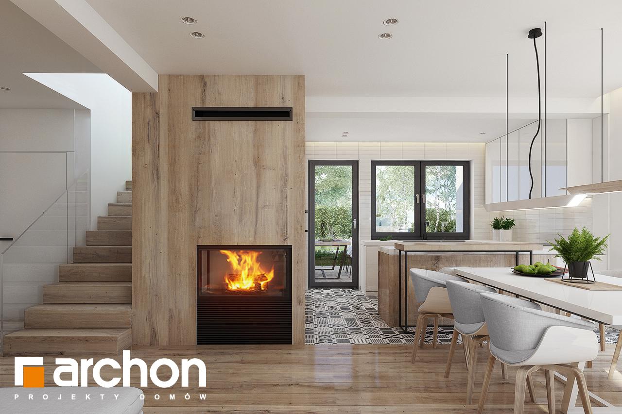 Проект будинку ARCHON+ Будинок в яблонках 15 (Г2) денна зона (візуалізація 1 від 4)