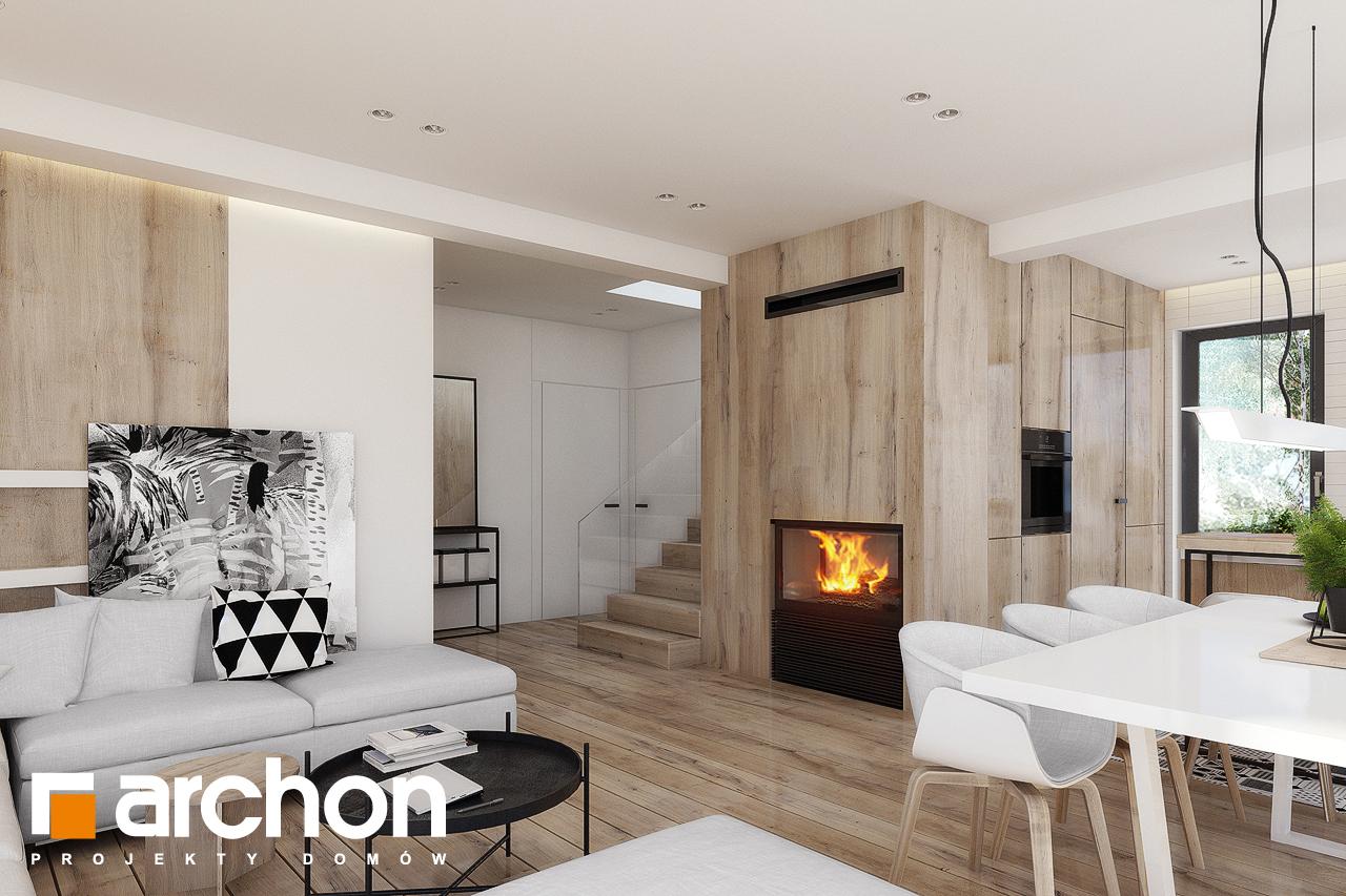 Проект будинку ARCHON+ Будинок в яблонках 15 (Г2) денна зона (візуалізація 1 від 5)
