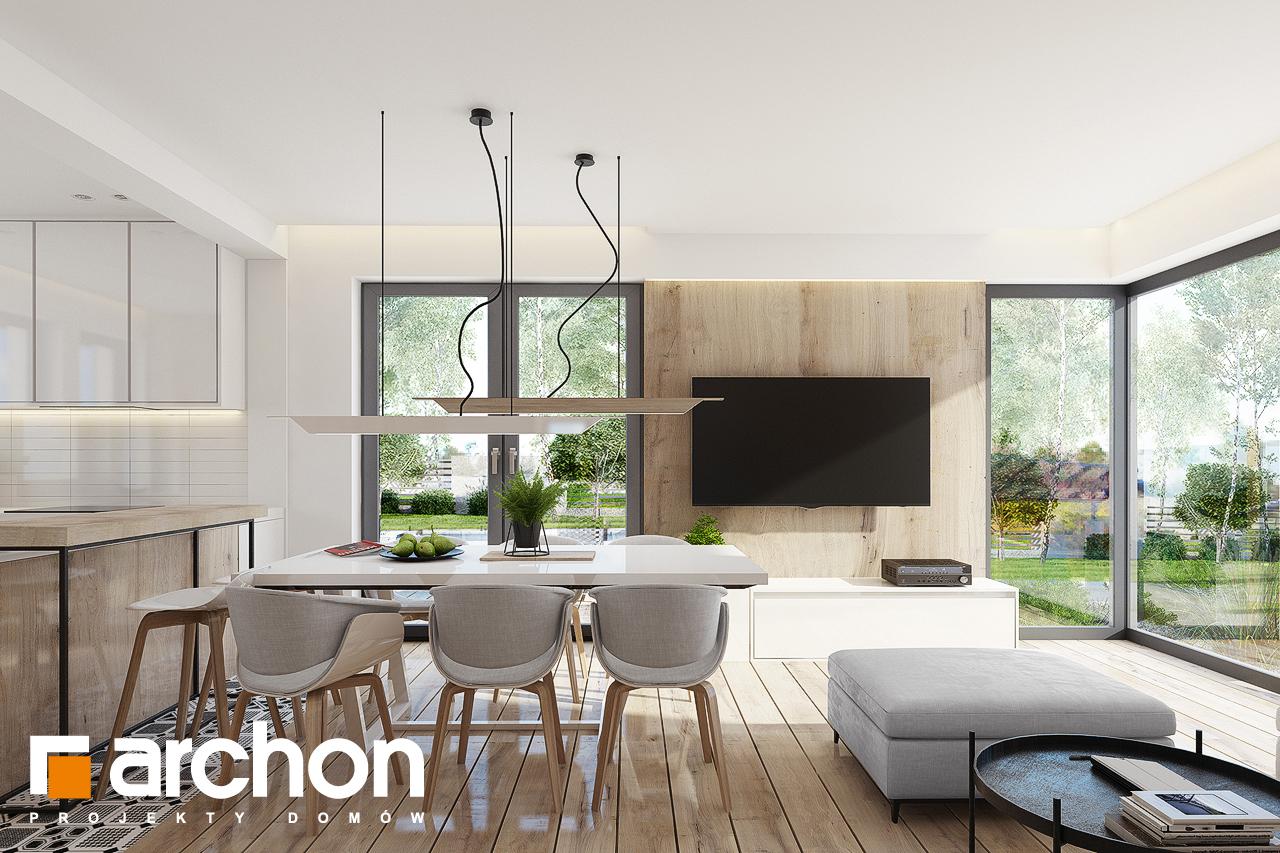 Проект дома ARCHON+ Дом в яблонках 15 (Г2) дневная зона (визуализация 1 вид 1)