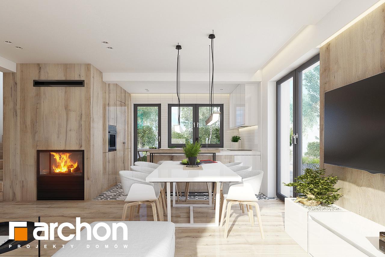 Проект дома ARCHON+ Дом в яблонках 15 (Г2) дневная зона (визуализация 1 вид 2)