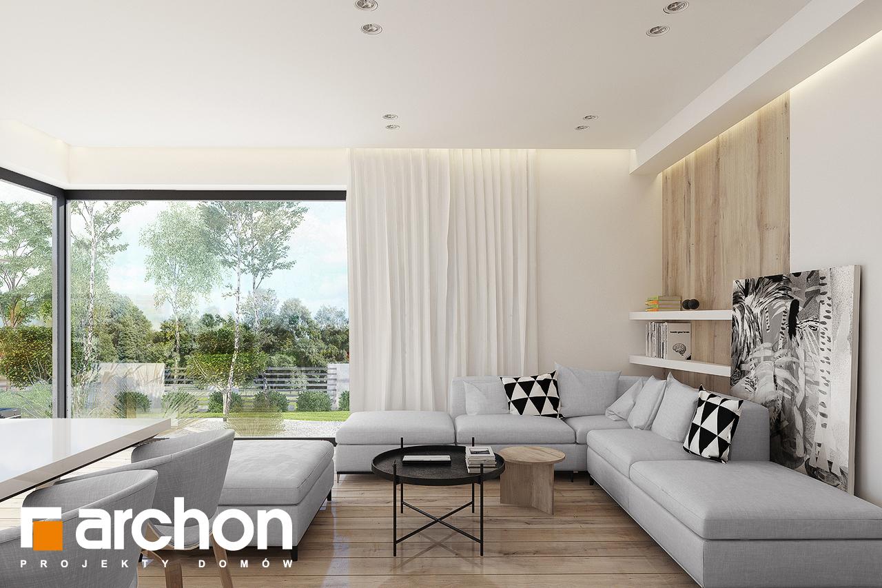 Проект дома ARCHON+ Дом в яблонках 15 (Г2) дневная зона (визуализация 1 вид 3)
