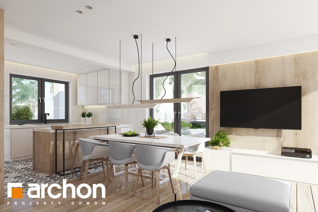 Проект дома ARCHON+ Дом в яблонках 15 (Г2) дневная зона (визуализация 1 вид 6)