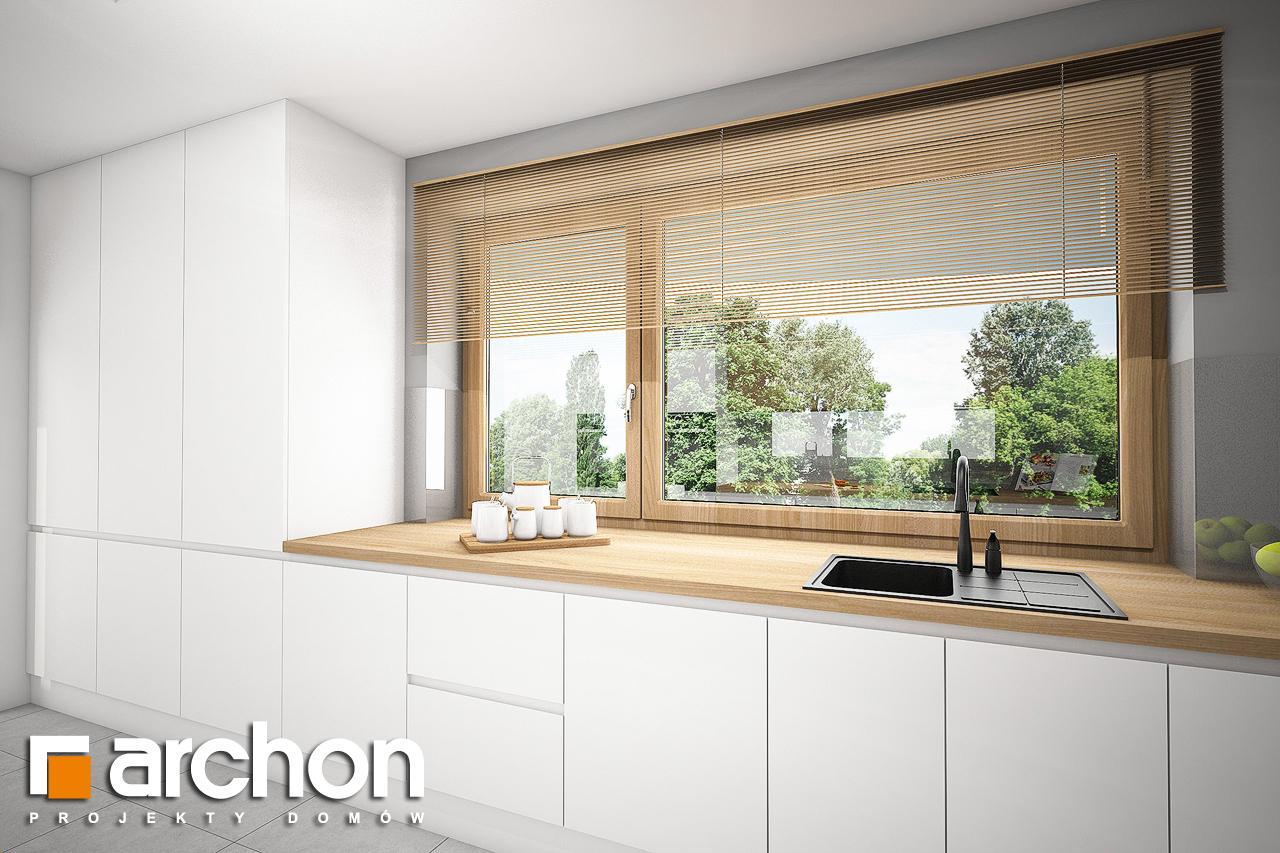 Проект будинку ARCHON+ Будинок в ізопірумі 6 (Г2) візуалізація кухні 1 від 2
