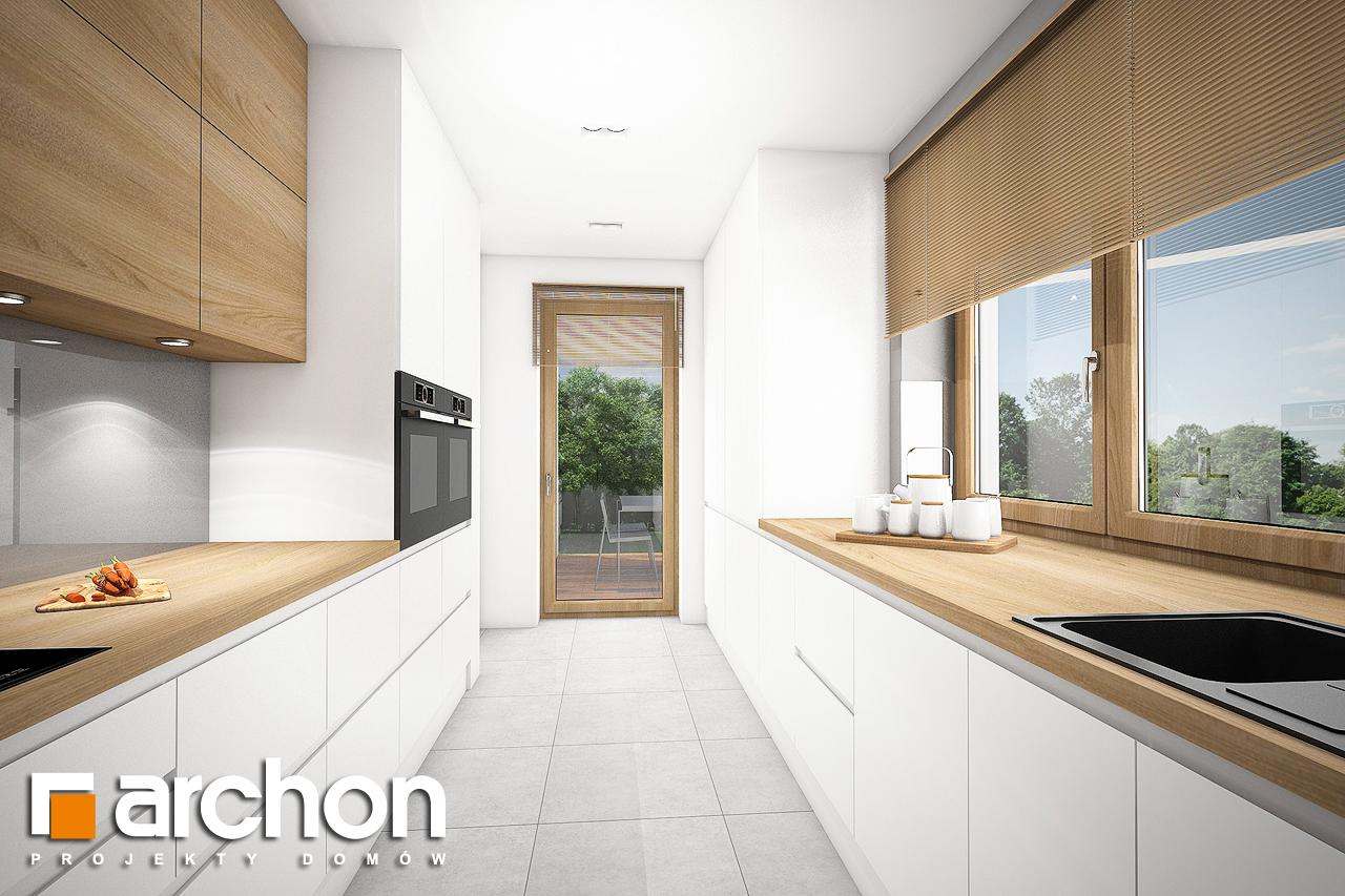 Проект будинку ARCHON+ Будинок в ізопірумі 6 (Г2) візуалізація кухні 1 від 3