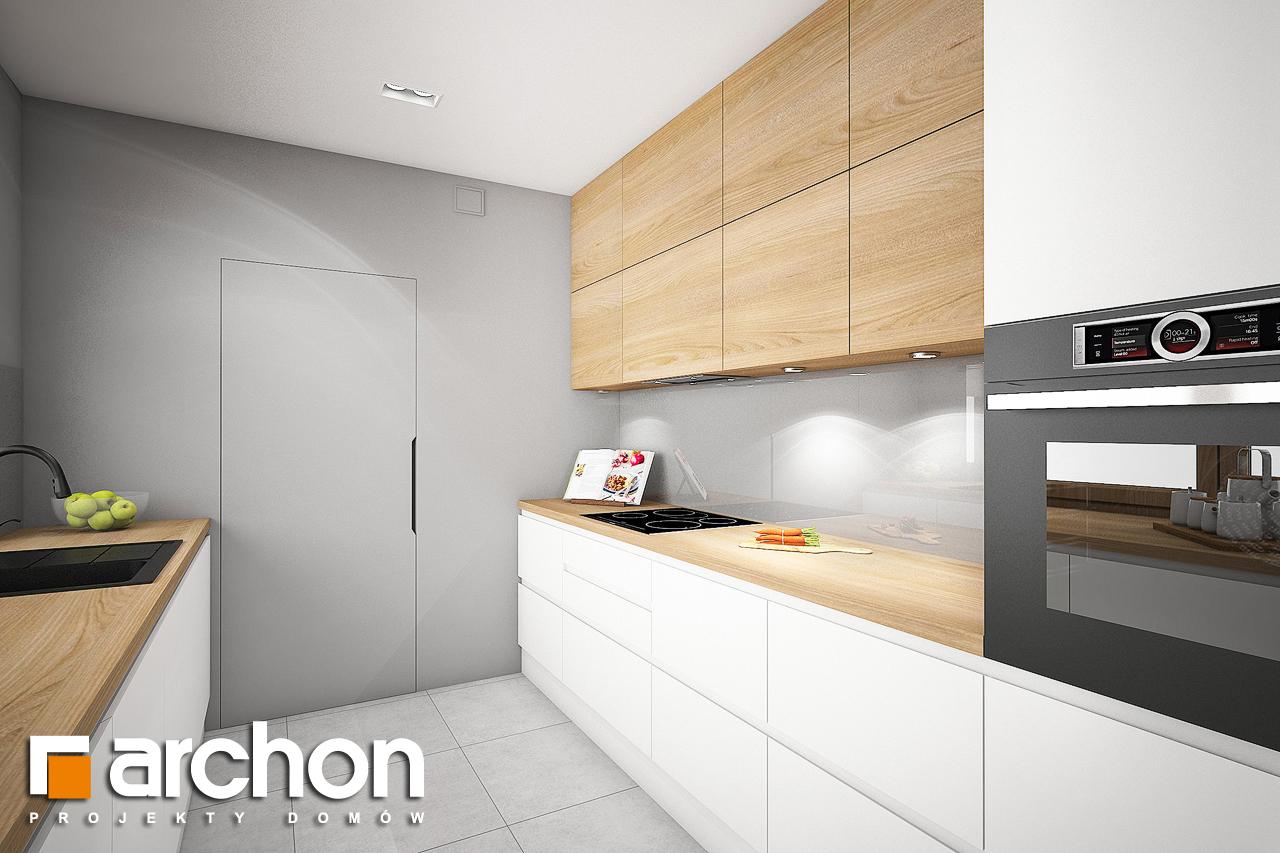 Проект дома ARCHON+ Дом в изопируме 6 (Г2) визуализация кухни 1 вид 1