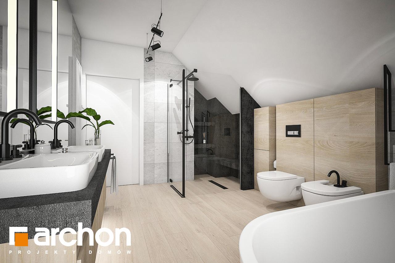 Проект дома ARCHON+ Дом в изопируме 6 (Г2) визуализация ванной (визуализация 3 вид 1)