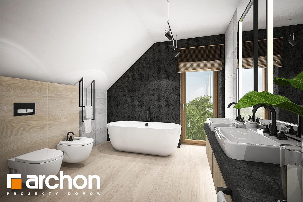 Проект дома ARCHON+ Дом в изопируме 6 (Г2) визуализация ванной (визуализация 3 вид 2)