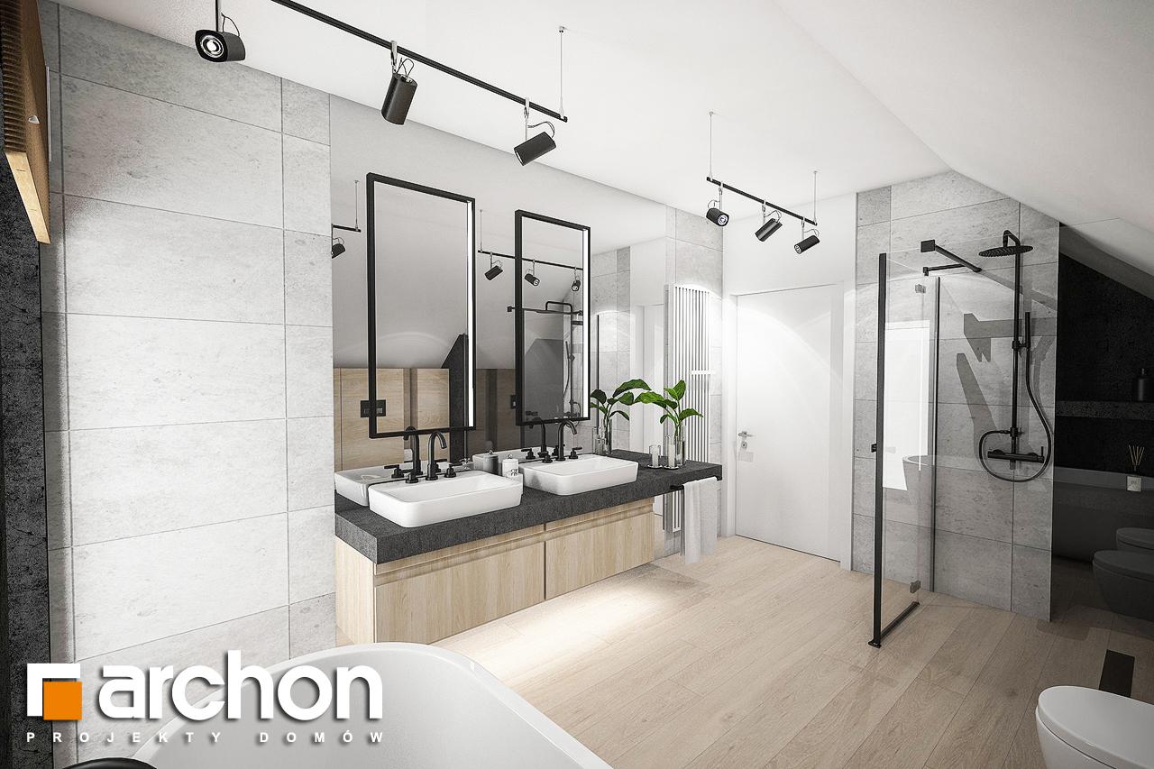 Проект дома ARCHON+ Дом в изопируме 6 (Г2) визуализация ванной (визуализация 3 вид 3)