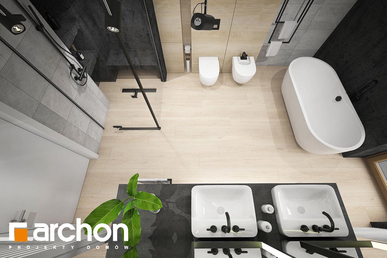 Проект дома ARCHON+ Дом в изопируме 6 (Г2) визуализация ванной (визуализация 3 вид 4)