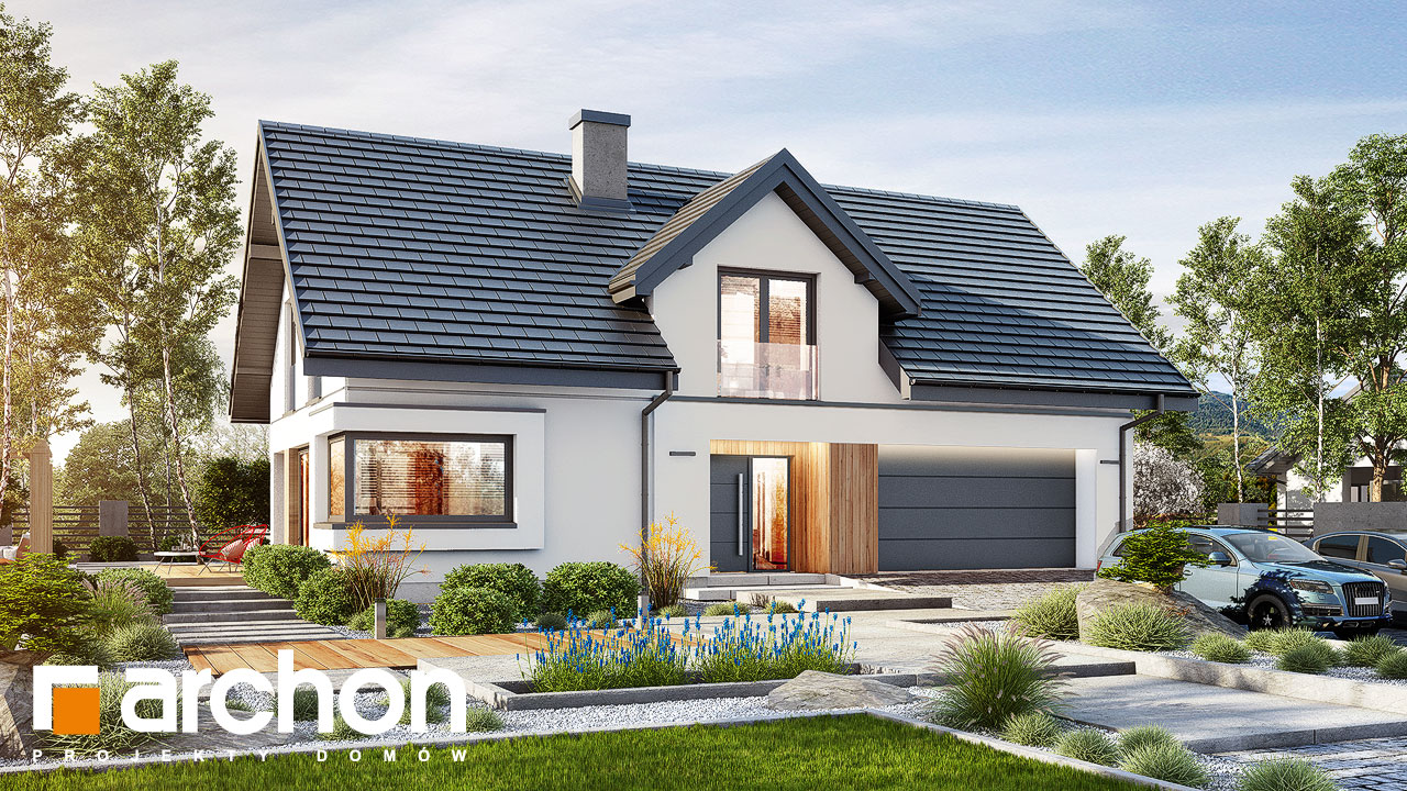 Проект дома ARCHON+ Дом в изопируме 6 (Г2) стилизация 3