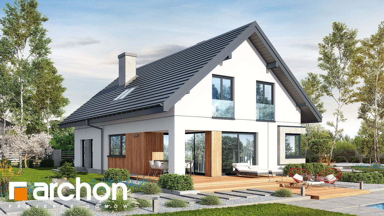 Проект дома ARCHON+ Дом в изопируме 6 (Г2) Вид 2