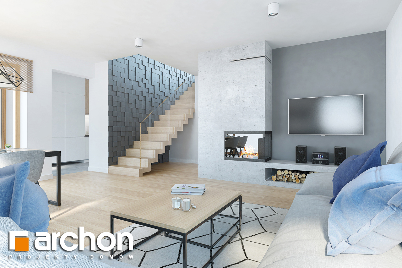 Проект будинку ARCHON+ Будинок в ізопірумі 6 (Г2) денна зона (візуалізація 1 від 1)