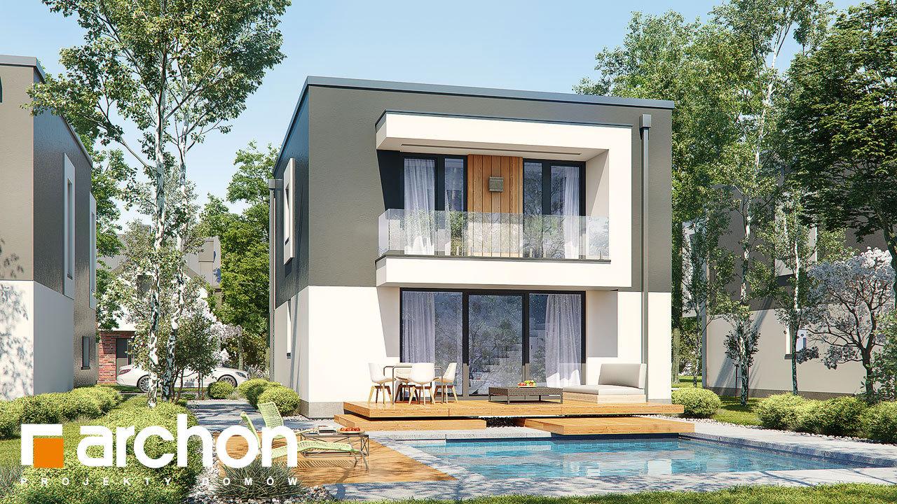 Проект будинку ARCHON+ Будинок у клематисах 24