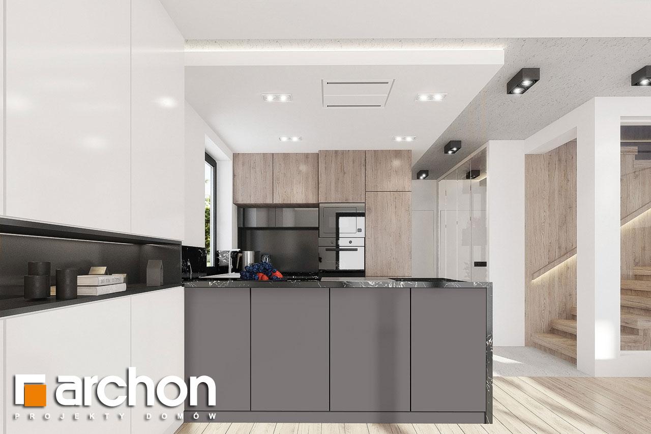Проект дома ARCHON+ Дом в клематисах 24 визуализация кухни 1 вид 1