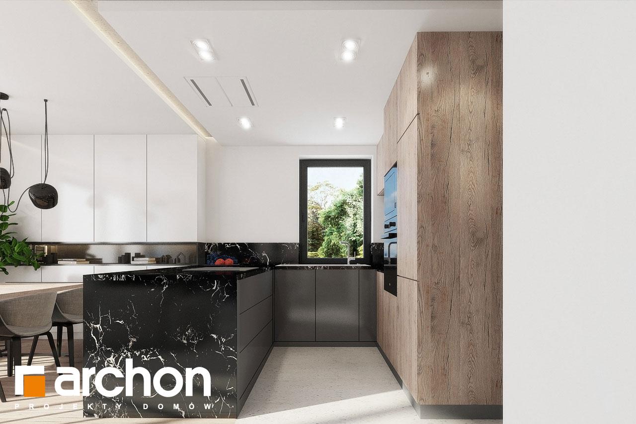 Проект дома ARCHON+ Дом в клематисах 24 визуализация кухни 1 вид 2
