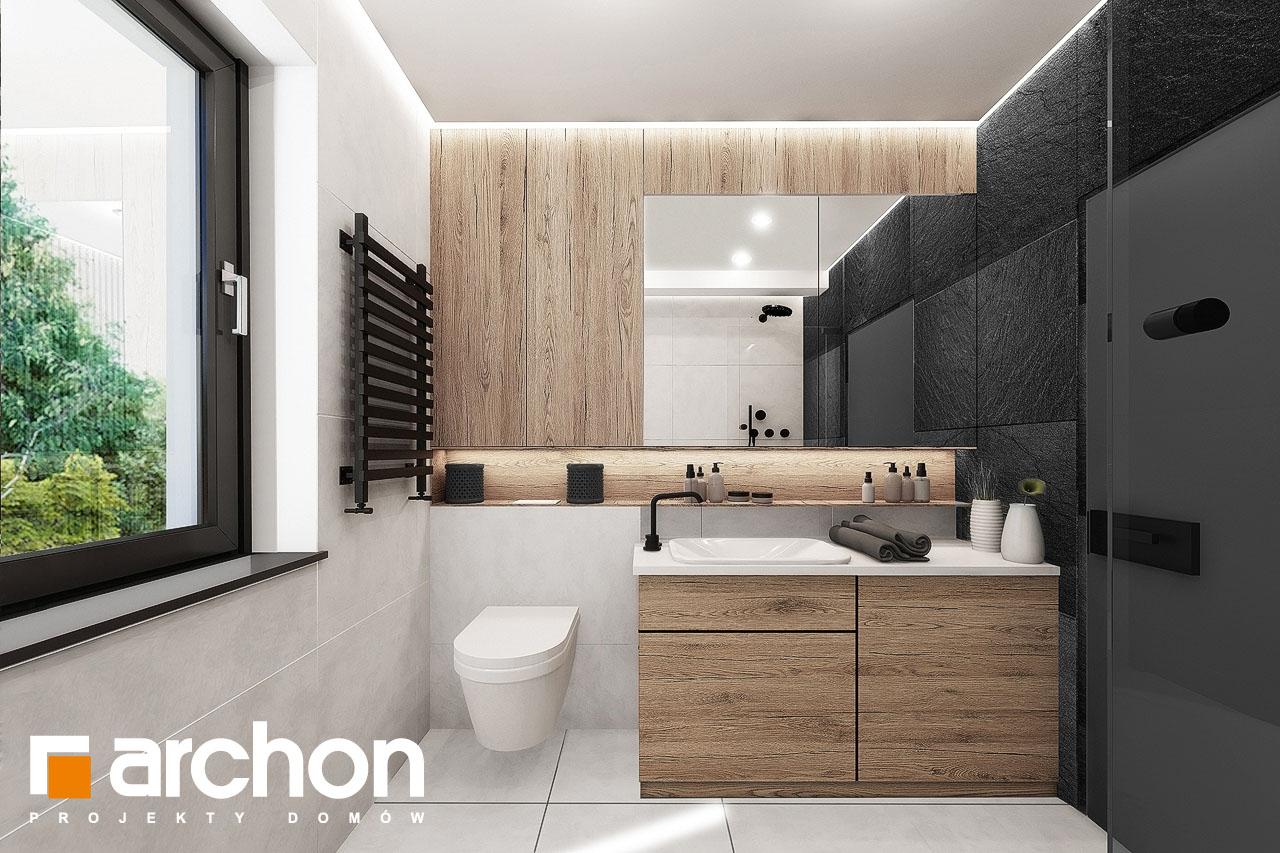 Проект будинку ARCHON+ Будинок у клематисах 24 візуалізація ванни (візуалізація 3 від 1)