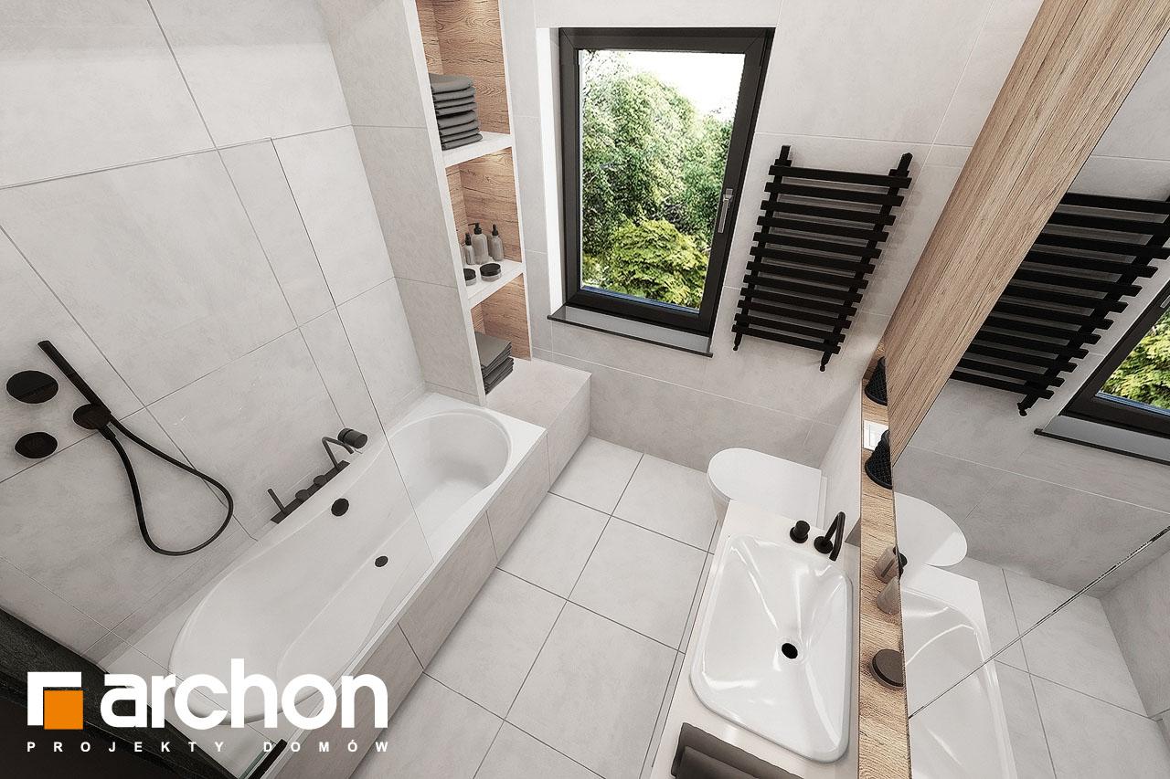 Проект будинку ARCHON+ Будинок у клематисах 24 візуалізація ванни (візуалізація 3 від 4)