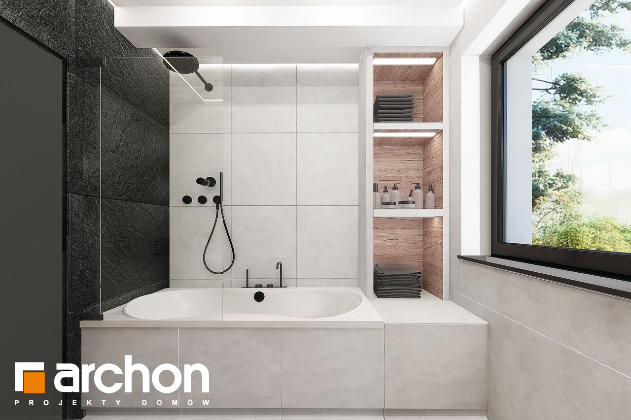 Проект дома ARCHON+ Дом в клематисах 24 визуализация ванной (визуализация 3 вид 2)