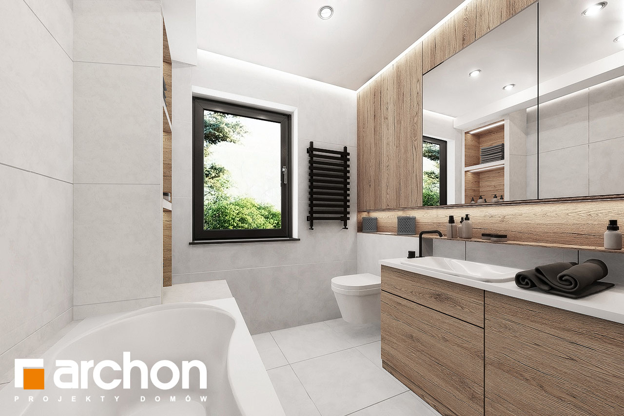 Проект дома ARCHON+ Дом в клематисах 24 визуализация ванной (визуализация 3 вид 3)