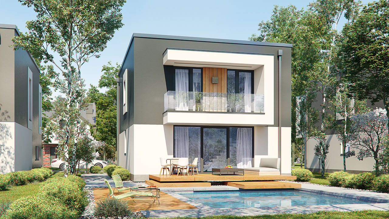 Проект будинку ARCHON+ Будинок у клематисах 24 Вид 2