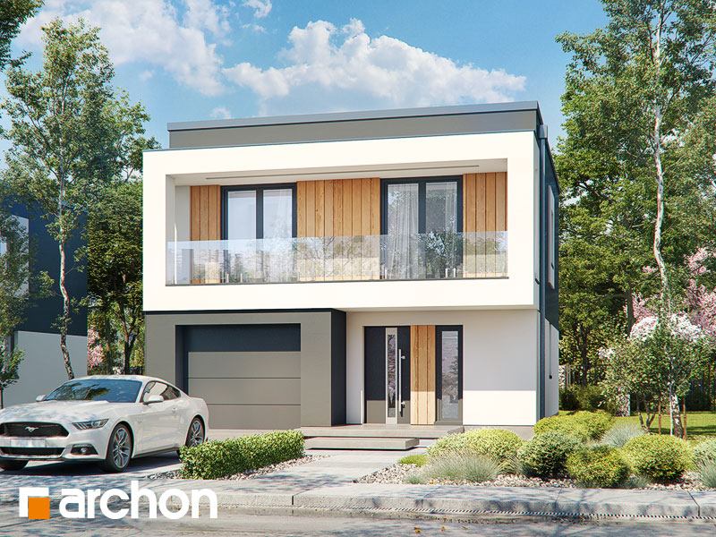 Проект будинку ARCHON+ Будинок у клематисах 24 Вид 1