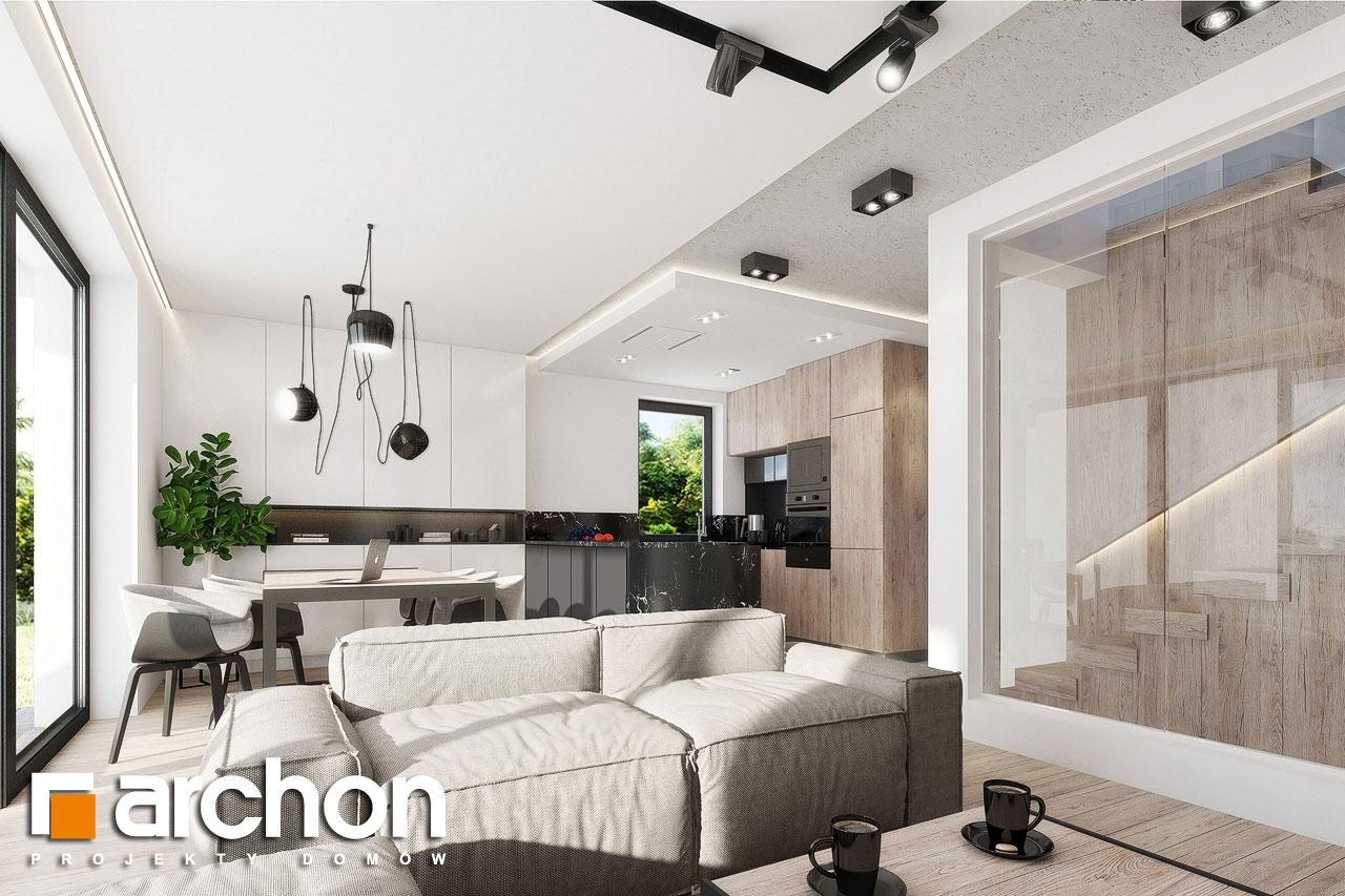 Проект будинку ARCHON+ Будинок у клематисах 24 денна зона (візуалізація 1 від 5)