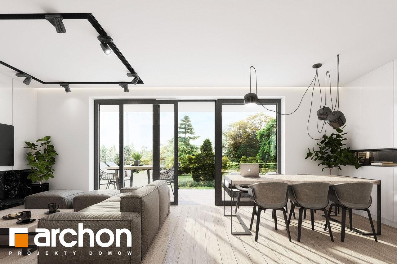 Проект будинку ARCHON+ Будинок у клематисах 24 денна зона (візуалізація 1 від 7)