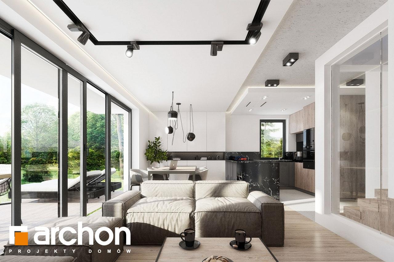 Проект дома ARCHON+ Дом в клематисах 24 дневная зона (визуализация 1 вид 2)