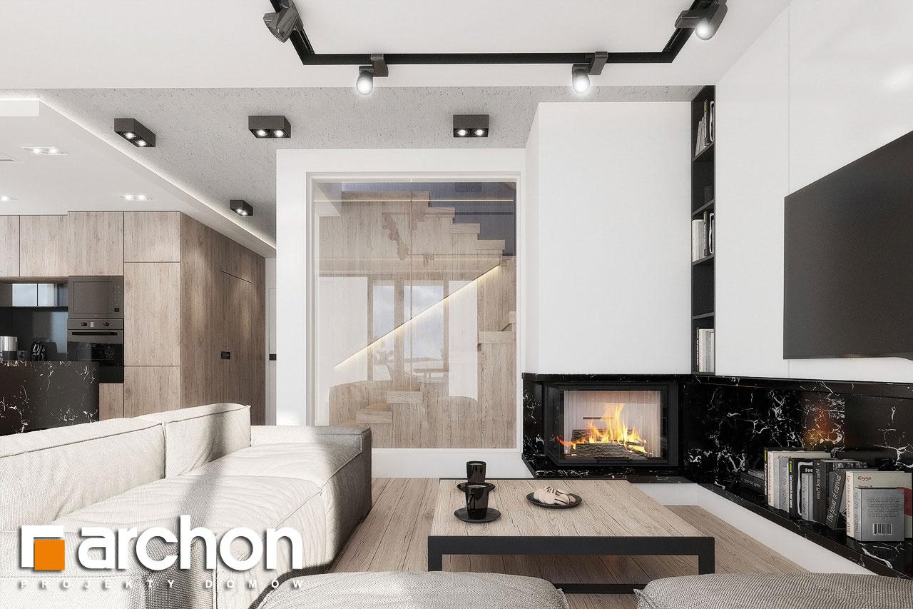 Проект дома ARCHON+ Дом в клематисах 24 дневная зона (визуализация 1 вид 3)