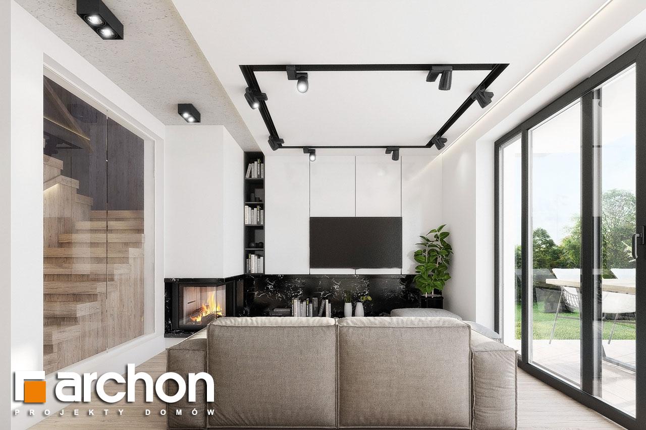 Проект дома ARCHON+ Дом в клематисах 24 дневная зона (визуализация 1 вид 4)