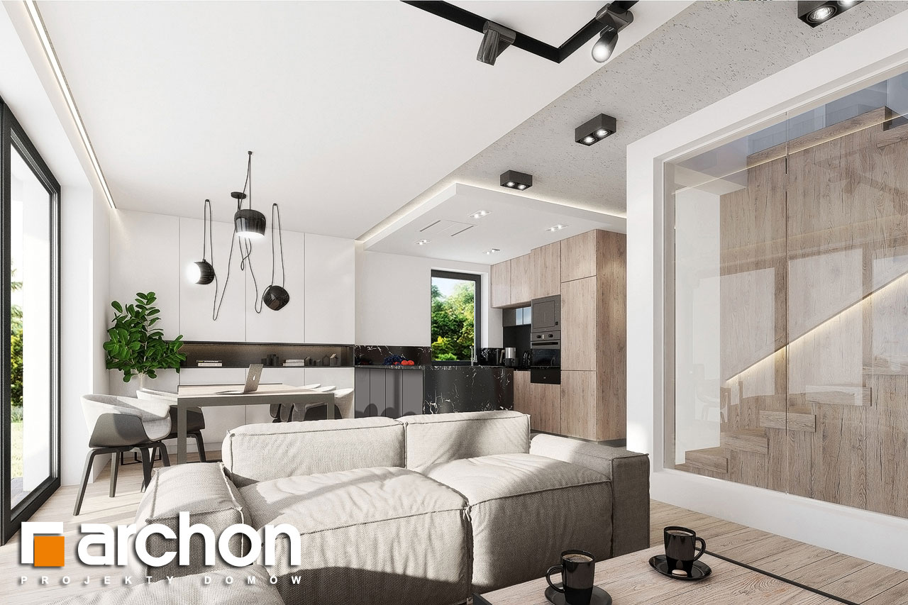 Проект дома ARCHON+ Дом в клематисах 24 дневная зона (визуализация 1 вид 5)
