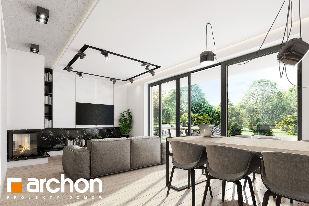 Проект дома ARCHON+ Дом в клематисах 24 дневная зона (визуализация 1 вид 8)