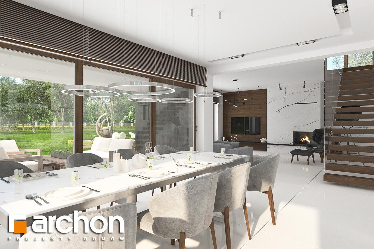 Проект будинку ARCHON+ Вілла Міранда (Г2) денна зона (візуалізація 1 від 3)
